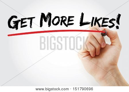 Hand Writing Get More Likes With Marker