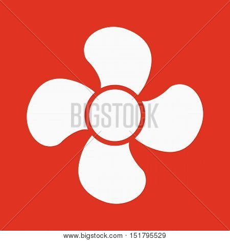 The fan icon. fan, ventilator, blower, propeller symbol Flat Vector illustration