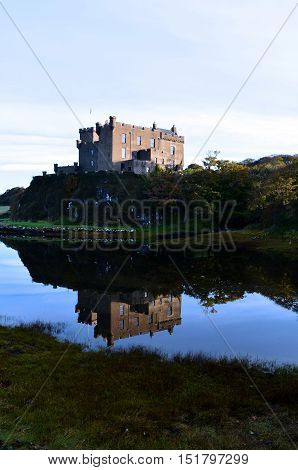 The home of Clan MacLeod Dunvegan Castle sits upon a sea cliff.