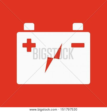 The accumulator battery icon. Power and electric, energy, electricity symbol. Flat Vector illustration