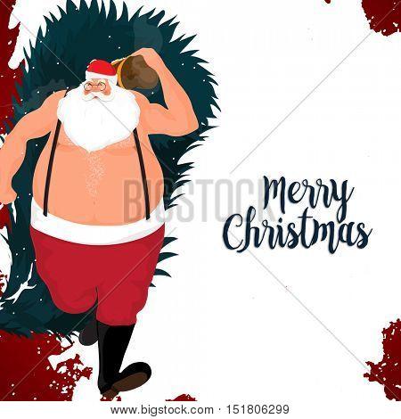 Illustration of Santa Claus for Merry Christmas celebration.