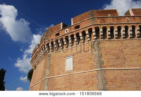 Castel Sant'Angelo (Castle of Holy angel) renaissance bastion a sample of early modern fortification style in the center of Rome