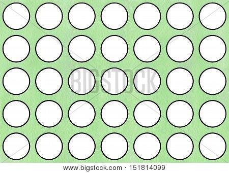 Watercolor Yellow Circles Pattern.