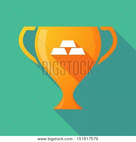 Long Shadow Gold Award Cup With Three Gold Bullions