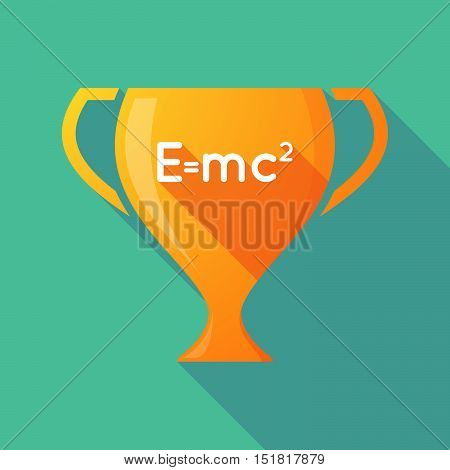 Long Shadow Gold Award Cup With The Theory Of Relativity Formula