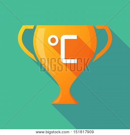 Long Shadow Gold Award Cup With  A Celsius Degree Sign