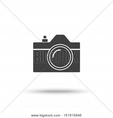 SLR camera icon isolated on white background