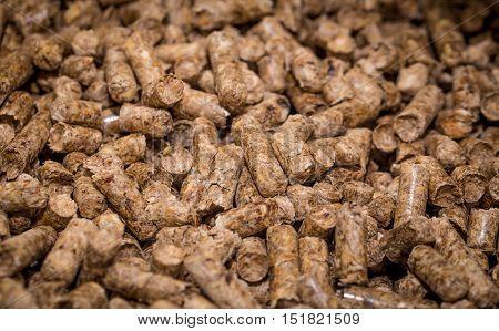 wood briquettes for solid fuel boilers closeup