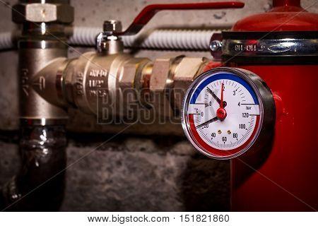 Pipelines With Pressure Gauge Water