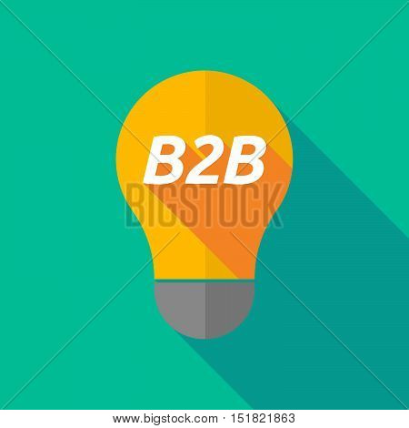 Long Shadow Light Bulb Icon With    The Text B2B