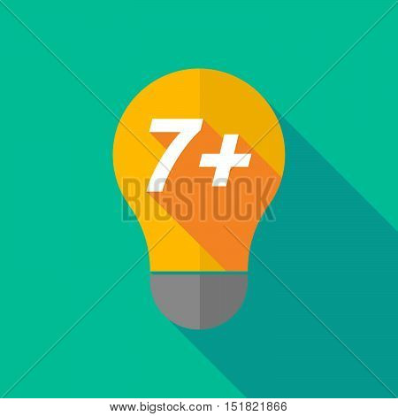 Long Shadow Light Bulb Icon With    The Text 7+