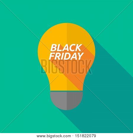 Long Shadow Light Bulb Icon With    The Text Black Friday