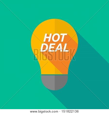 Long Shadow Light Bulb Icon With    The Text Hot Deal