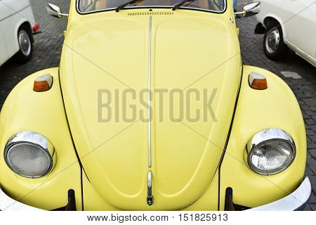 Yellow Volkswagen Vintage Car