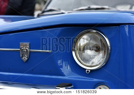 Romanian Blue Dacia Vintage Car