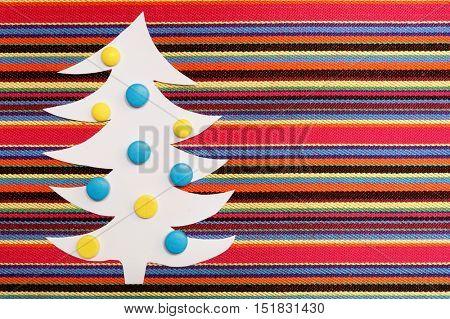 Medical tablet. Creative Christmas tree