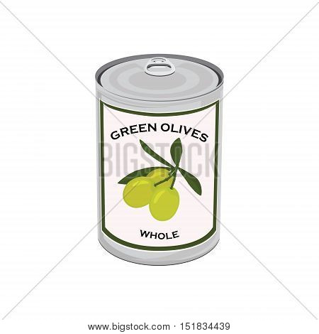 Green Olives Can