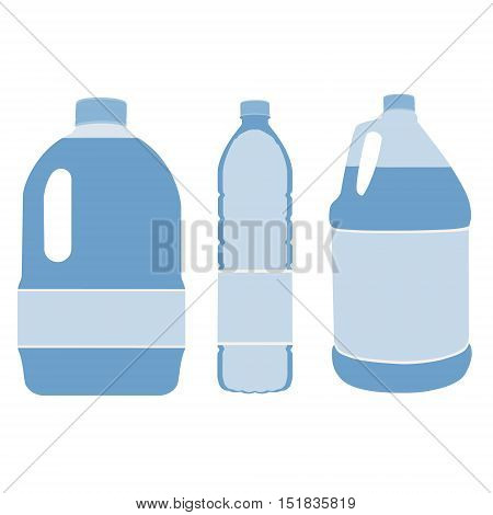 Water Bottles Vector