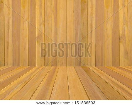 Wood Teak  background. Teak walls and Teak floor. wood background.