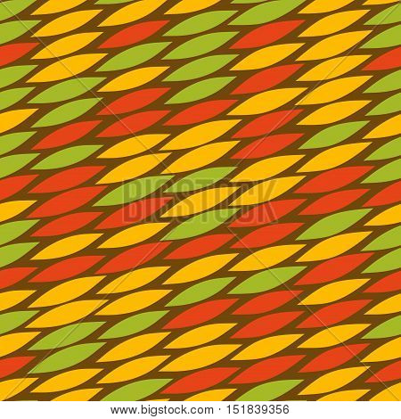 Green rastafarian snake skin pattern, vector seamless illustration, EPS10