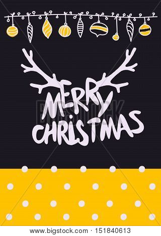 Vector Set Christmas Calligraphic Design Elements and Page Decoration, Mary Christmas lettering with gold texture