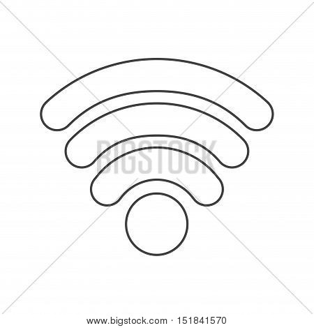 Wifi icon. Global communication intenet connectivity web and technology theme. Isolated design. Vector illustration