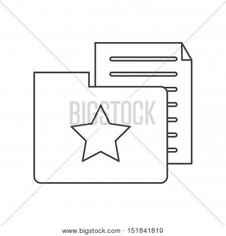 Document and file con. Data archive storage and organize theme. Isolated design. Vector illustration