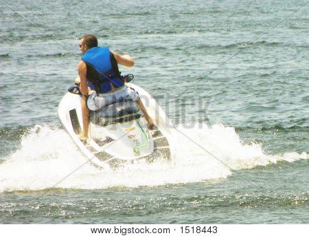 Blue Jet Skier