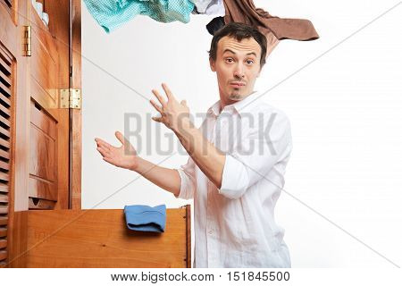 Man With Flying Clothes