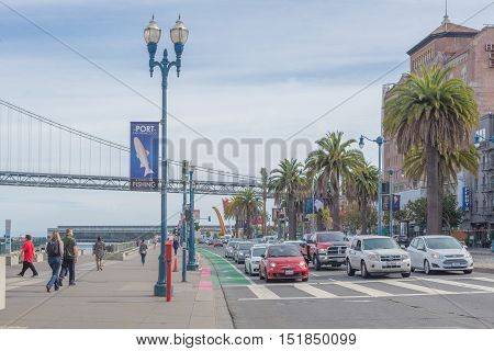 San Francisco California - Outubro 13 2016: Port of San Francisco