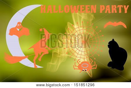 Vector illustration of the characters to have a party on Halloween