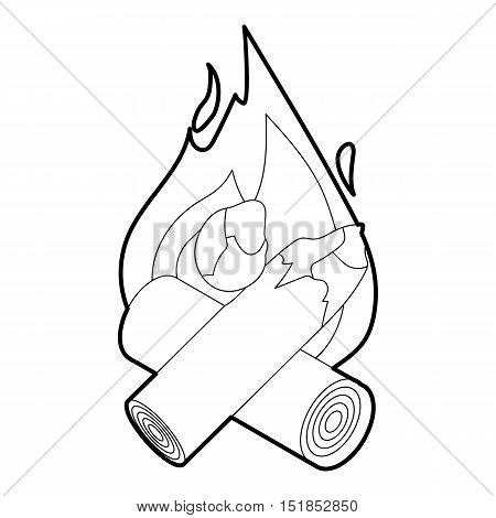 Campfire icon. Isometric 3d illustration of campfire vector icon for web