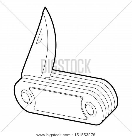 Penknife icon. Isometric 3d illustration of penknife vector icon for web