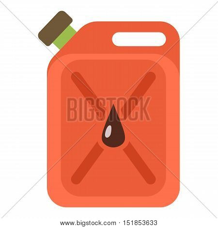 Red jerrycan icon. Cartoon illustration of jerrycan vector icon for web