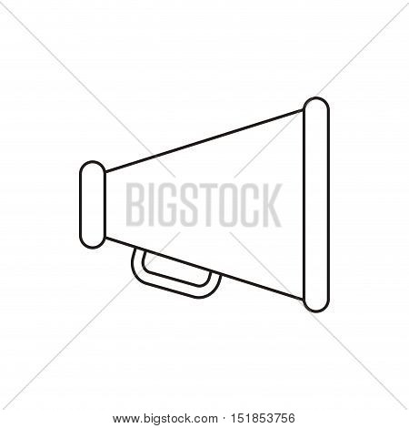 Megaphone device icon. Amplifer speaker bullhorn and announce theme. Isolated design. Vector illustration
