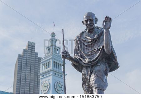Mahatma Gandhi ferry building Port of San Francisco
