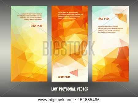 orange yellow autumn banner template for flyer or invitation vector illustration