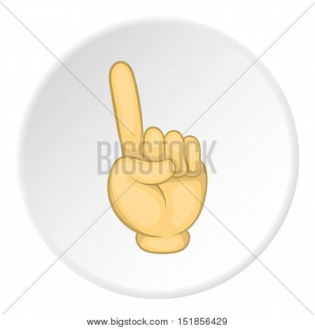 Forefinger up gesture icon. Cartoon illustration of forefinger up gesture vector icon for web