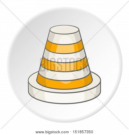 Traffic cone icon. Cartoon illustration of traffic cone vector icon for web