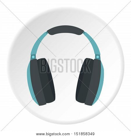 Headphone icon. Flat illustration of headphone vector icon for web design