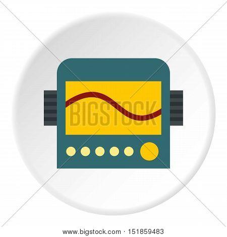 Oscilloscope icon. Flat illustration of oscilloscope vector icon for web design