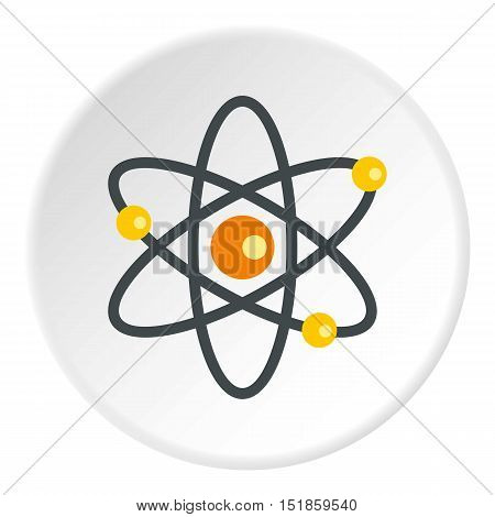 Atom icon. Flat illustration of atom vector icon for web design