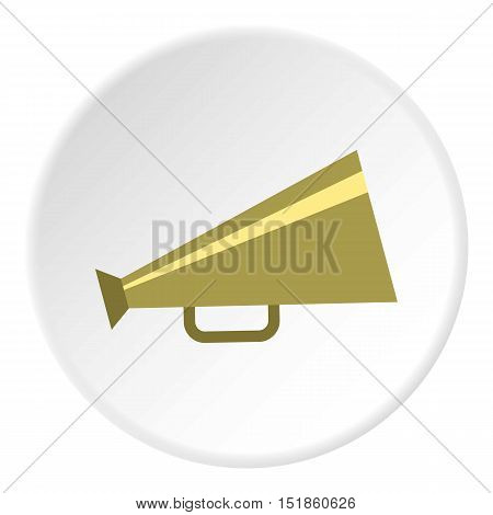 Mouthpiece icon. Flat illustration of mouthpiece vector icon for web design