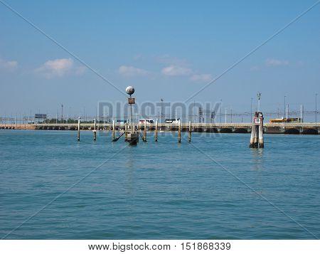 Ponte Liberta Bridge In Venice