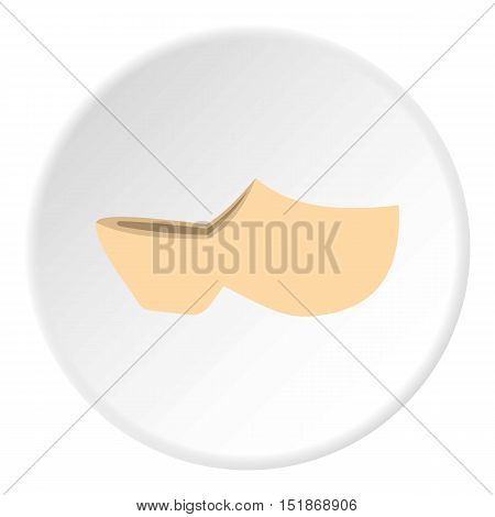 Clogs icon. Flat illustration of clogs vector icon for web