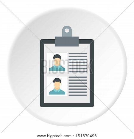 Summary in folder icon. Flat illustration of summary in folder vector icon for web