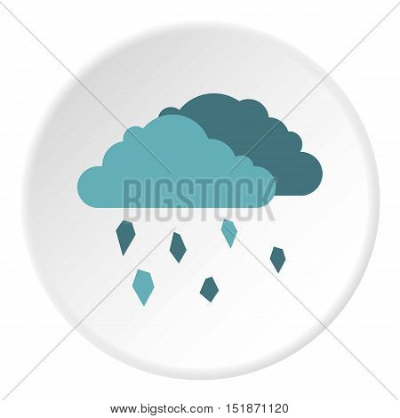 Clouds and hail icon. Flat illustration of clouds and hail vector icon for web