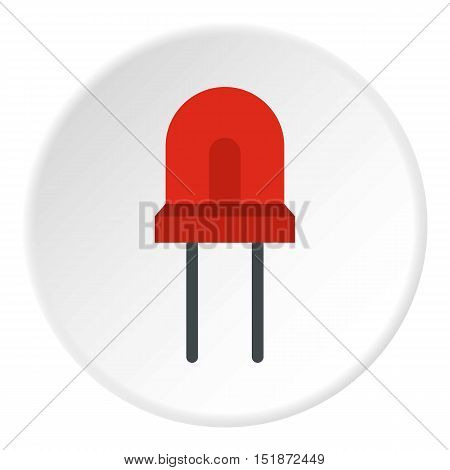 Red halogen lamp icon. Flat illustration of red halogen lamp vector icon for web