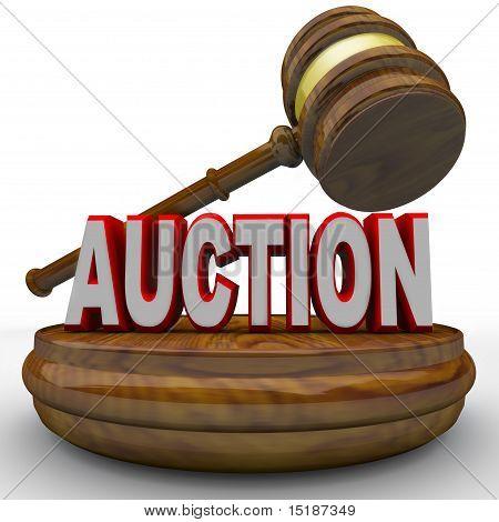 Auktion - Wort und Hammer für Schlussgebot