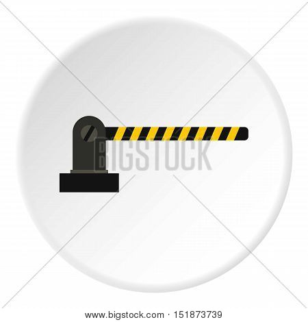 Gate in parking lot icon. Flat illustration of gate in parking lot vector icon for web